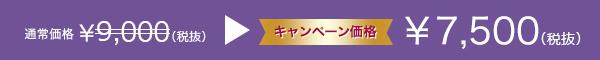 通常¥9,000(税別)キャンペーン価格¥7,500(税別)