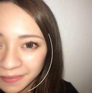 丸顔さんにおすすめの眉毛の形 アーチ眉
